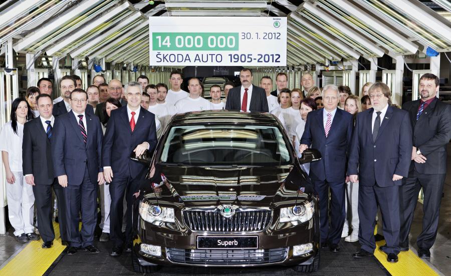 Skoda wyprodukowała 14 milionów samochodów