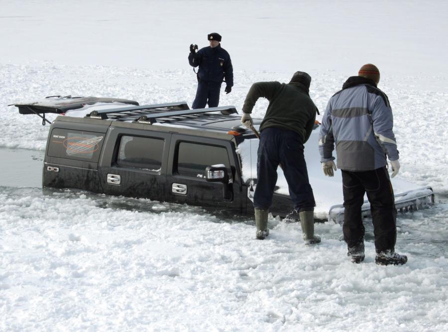 Hummer zatopiony w Balatonie