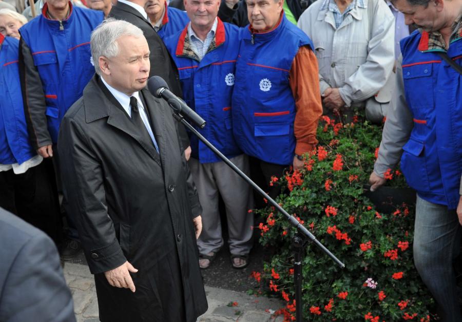 Kampania wyborcza PiS. Jarosław Kaczyński w Gdańsku