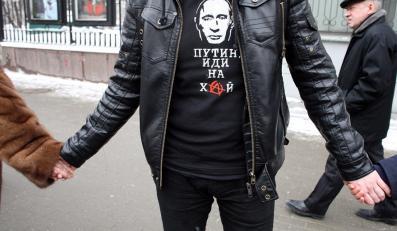 """""""Żywy łańcuch"""" przeciwko Putinowi w Rosji"""