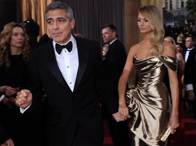 George Clooney na galę przybył w towarzystwie Stacey Kiebler