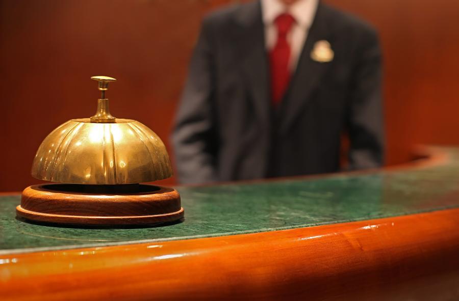 Recepcja hotelowa - miejsce pracy concierge