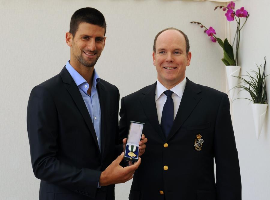 Djokovic odznaczony przez księcia Alberta