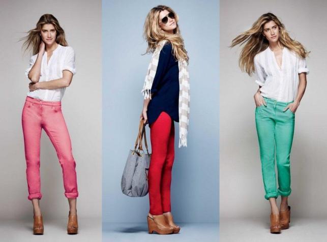Kolorowe dżinsy w kolekcji marki F&F na wiosnę i lato 2012