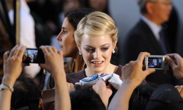 """Emma Stone na premierze """"Niesamowitego Spider-Mana"""" w Japonii"""