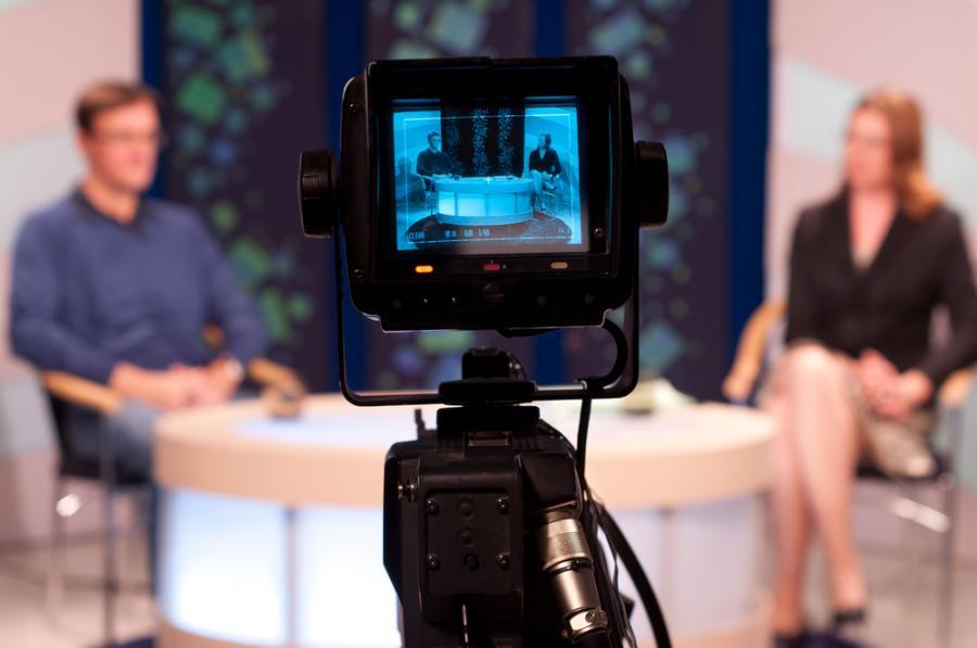 Nagranie w studiu telewizyjnym