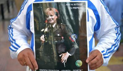 Tak Grecy przywitali Merkel