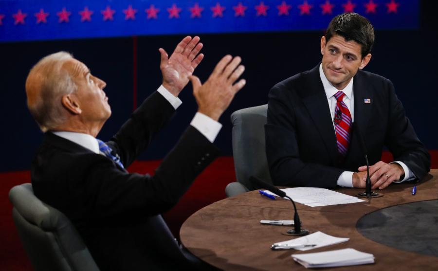 Debata Joe Biden konrta Paul Ray