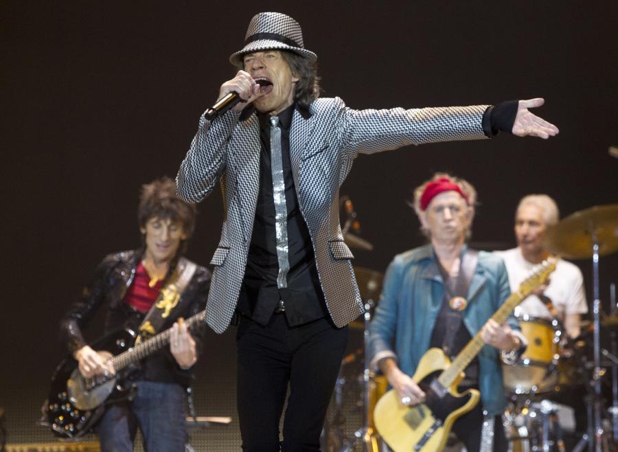 The Rolling Stones podczas koncertu w Londynie