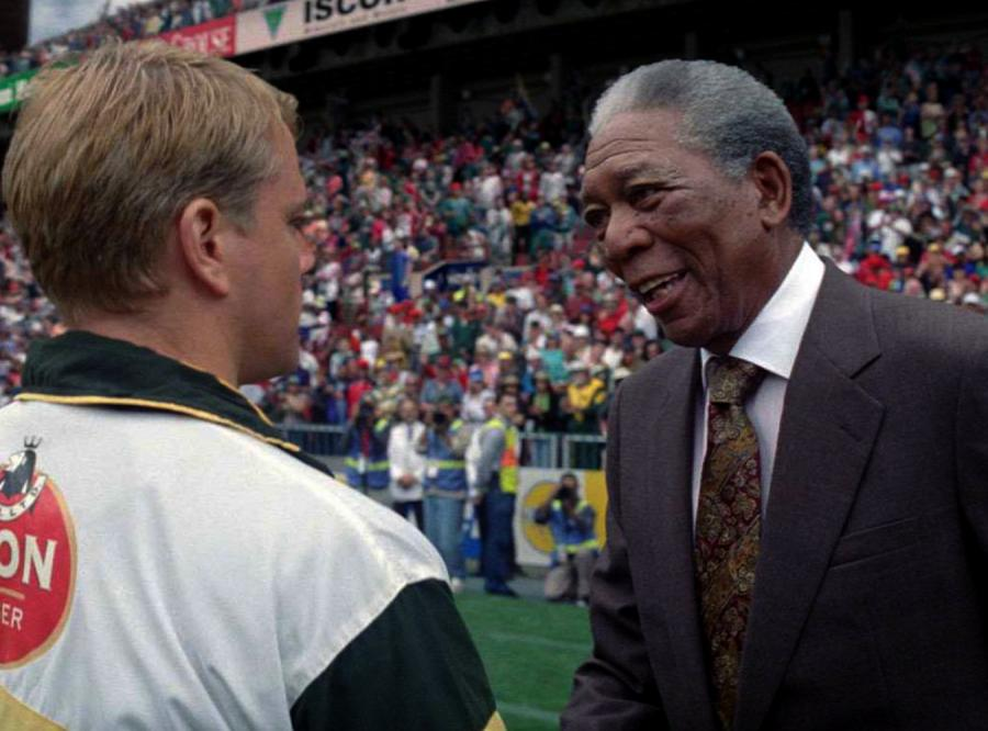 Morgan Freeman jako Nelson Mandela w filmie \