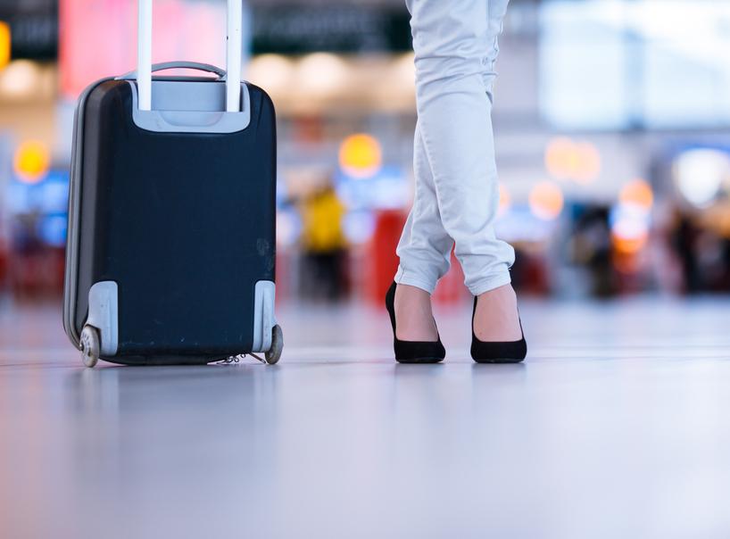 Zakazana walizka na kółkach