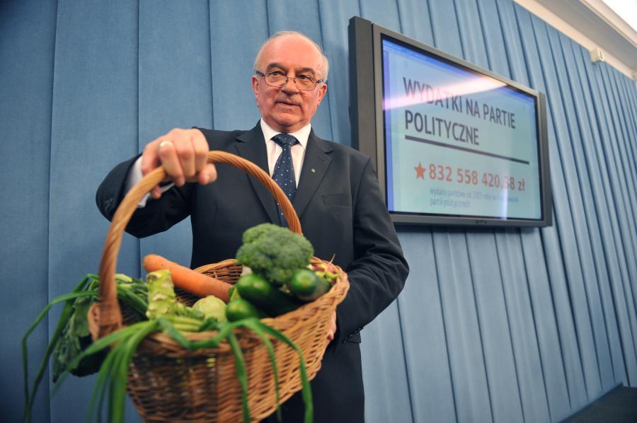 Minister rolnictwa Stanisław Kalemba