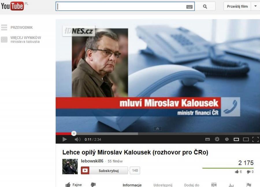 Czeski minister finansów Miroslav Kalousek
