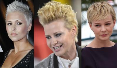 Gwiazdy w krótkich blond fryzurach