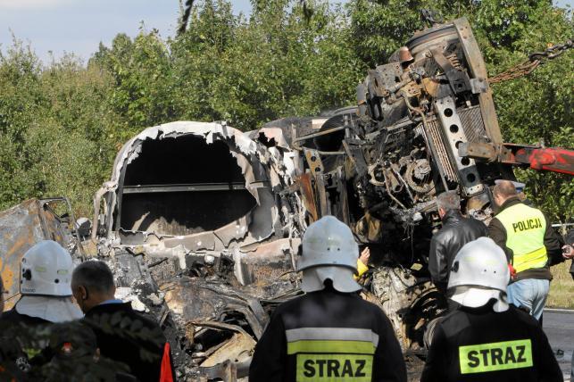 Wypadek w miejscowości Prusice na Dolnym Śląsku