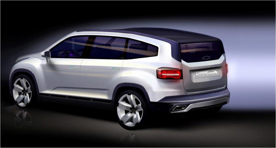 Orlando - nowy van Chevroleta od tyłu