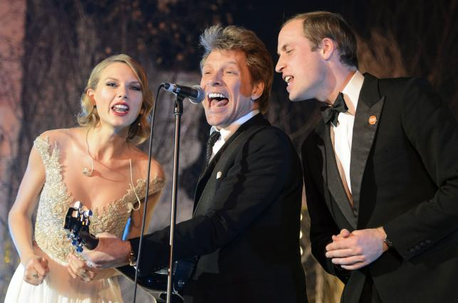 Książę William śpiewa z Jonem Bon Jovi i Taylor Swift