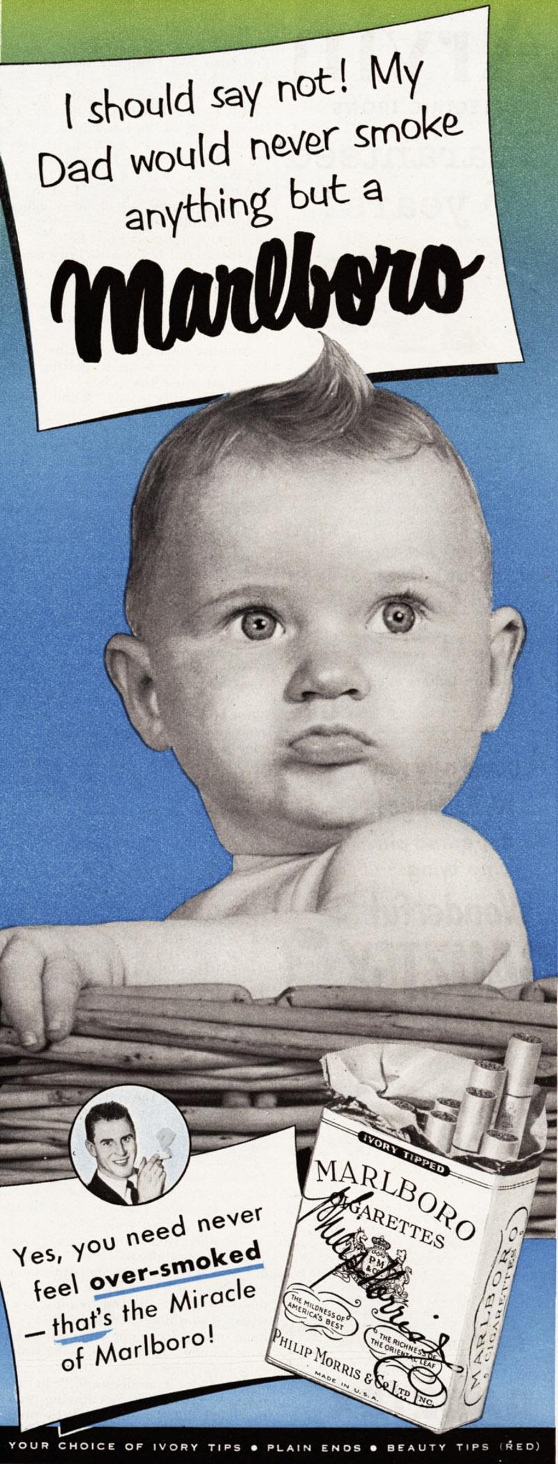 "Papierosy ""Marlboro"", rok 1951"