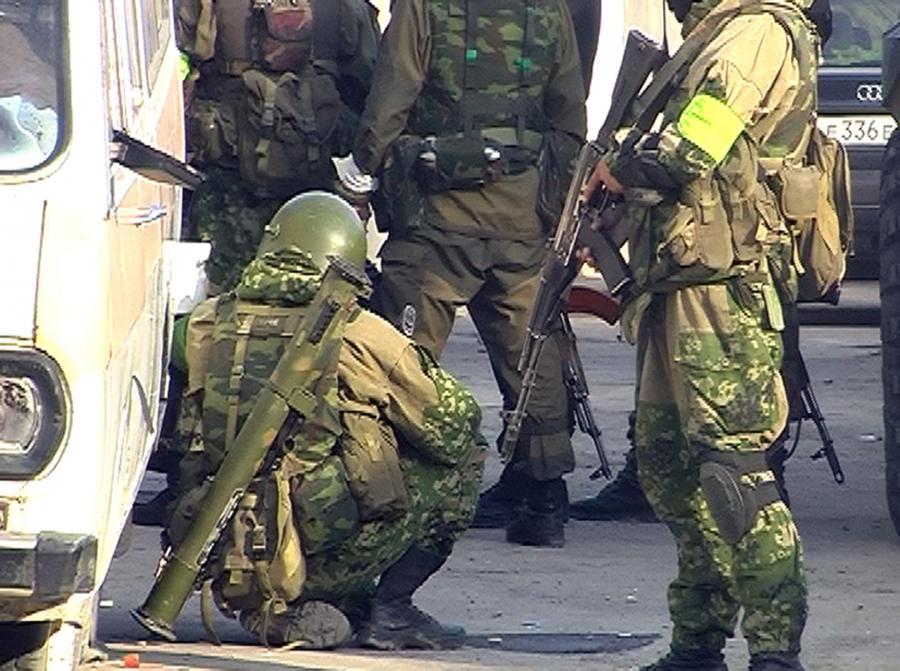 Dagestan, Machaczkał. Rosyjskie siły specjalne na miejscu jednego z zamachów terrorystycznych