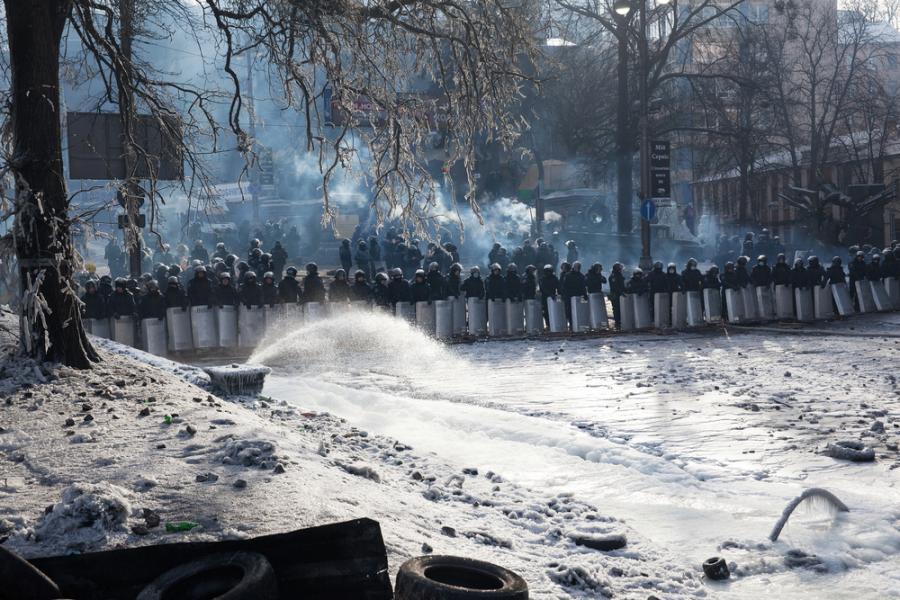 Kordon Berkutu w Kijowie