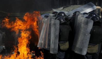 Siły Berkutu na Majdanie w Kijowie