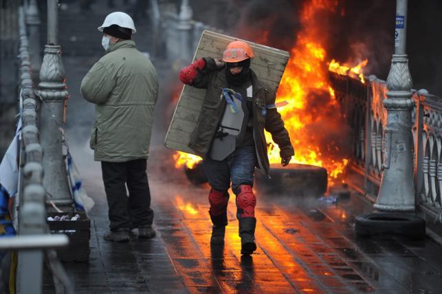 Poranne starcia w Kijowie