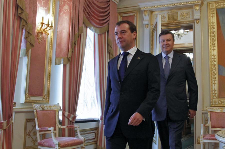 Dmitrij Miedwiediew i Wiktor Janukowycz