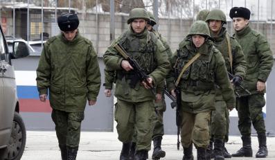 Rosyjscy żołnierze w Sewastopou