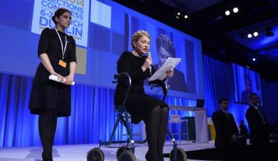 Julia Tymoszenko na kongresie EPP