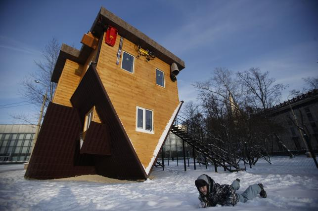 Odwrócony dom w Rosji