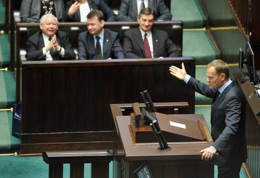 Sejm - Donald Tusk i Jarosław Kaczyński