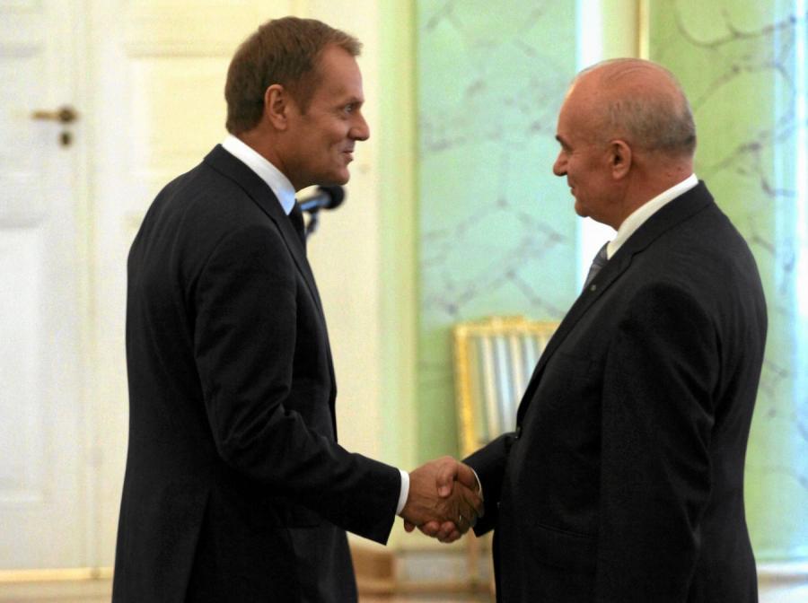 Donald Tusk i Stanisław Kalemba