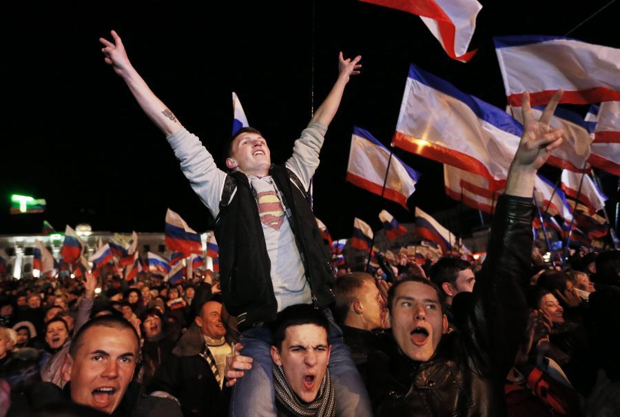 Reakcja mieszkańców Symferopolu na wyniki referendum