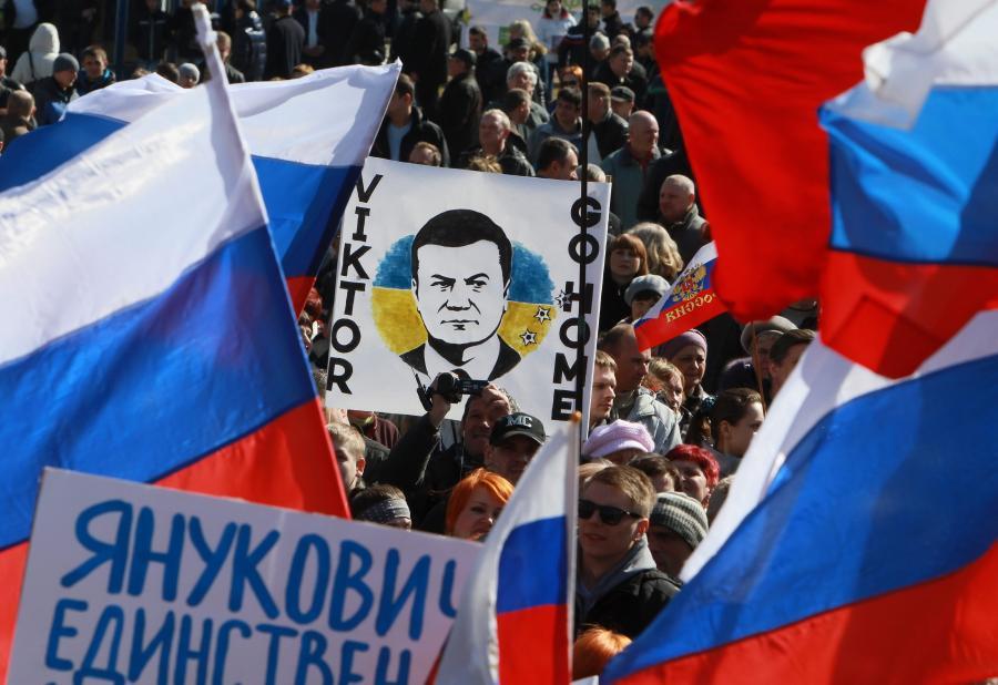 Manifestacje w Doniecku