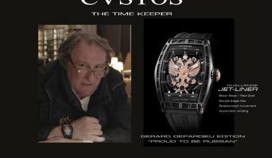 Gerard Depardieu dla CVSTOS / zdjęcie z oficjalnego profilu firmy