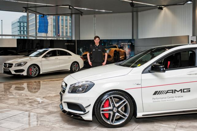 Kamil Stoch i jego mercedes A 45 AMG