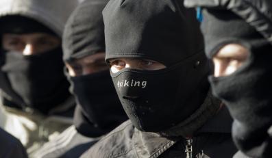 Członkowie ukraińskiego Prawego Sektora