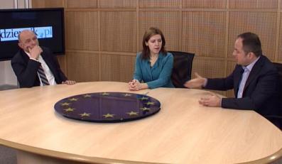 Dominika Ćosić rozmawia z Bogusławem Sonikiem i Konradem Szymańskim
