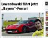 Ferrari F12 berlinetta Roberta Lewandowskiego