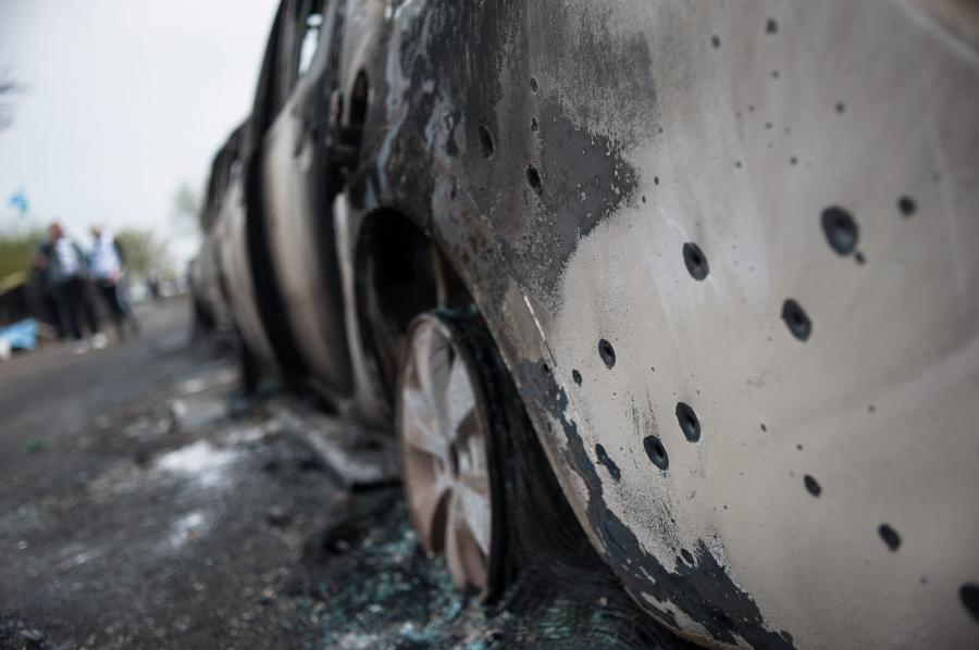 Słowiańsk wschodnia Ukraina strzelanina