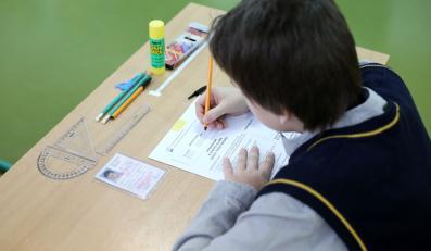 Uczeń podczas egzaminu