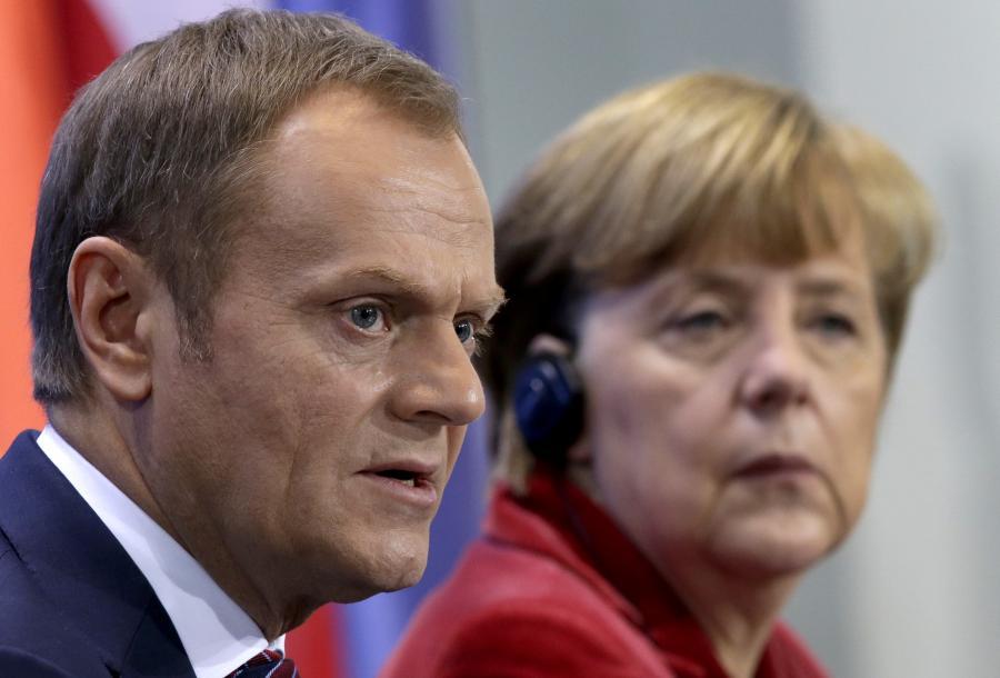 Donald Tusk i Angela Merkel