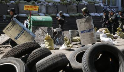 Barykada w Mariupolu