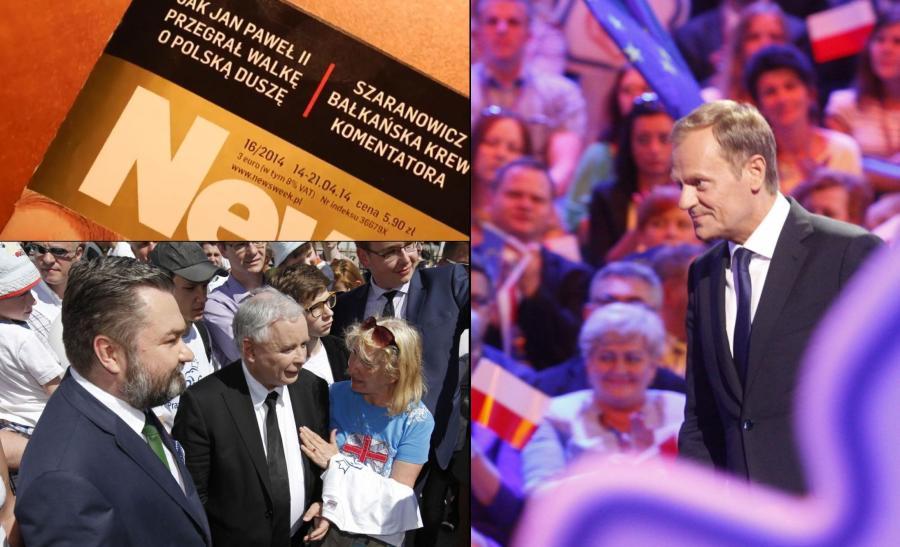 Nowy spot PiS, Jarosław Kaczyński w Białymstoku, Donald Tusk na Śląsku