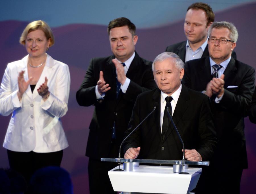 Sztab PiS po ogłoszeniu wyników eurowyborów