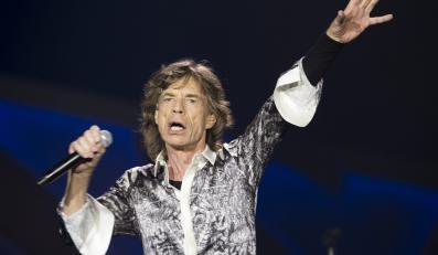 Mick Jagger podczas koncertu w Telenor Arenie