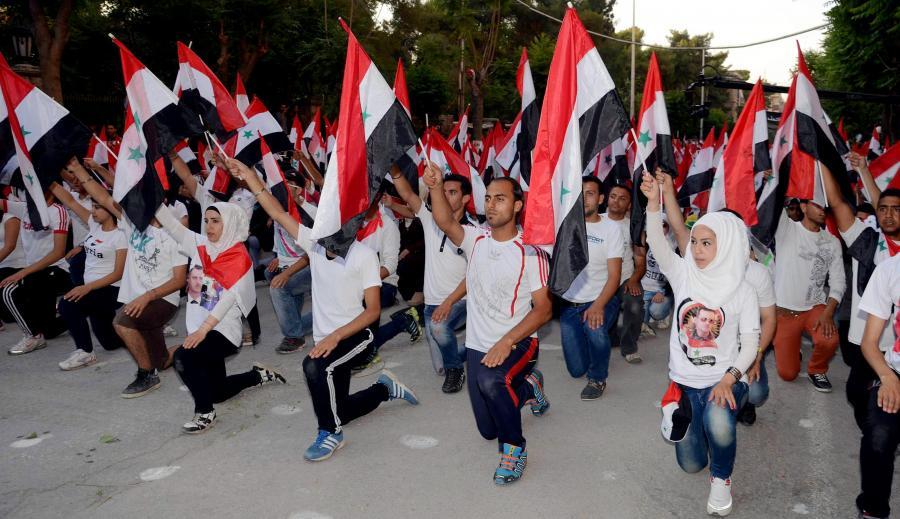 Marsz studentów popierających Asada