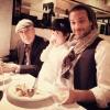Adam Cohen z ojcem i synem