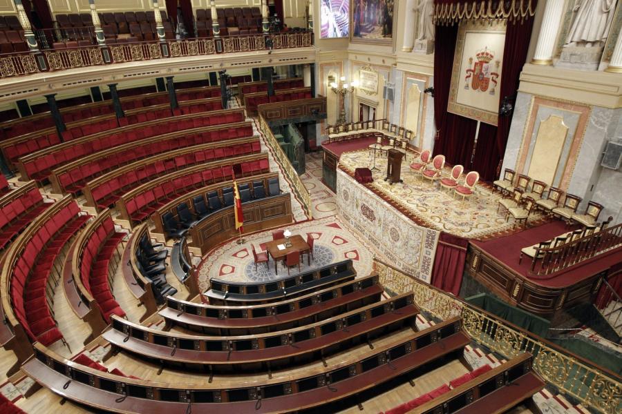 Sala w której proklamowany będzie nowy król Hiszpanii