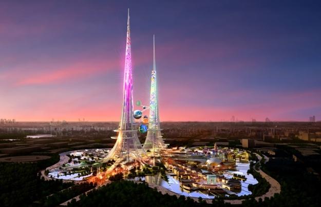 Najwyższy budynek świata? Chińska wieża, Phoenixs Towers, o wysokości 1 km